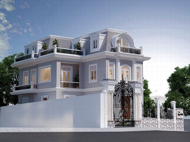 Những mẫu thiết kế biệt thự tân cổ điển đẹp ấn tượng năm 2017