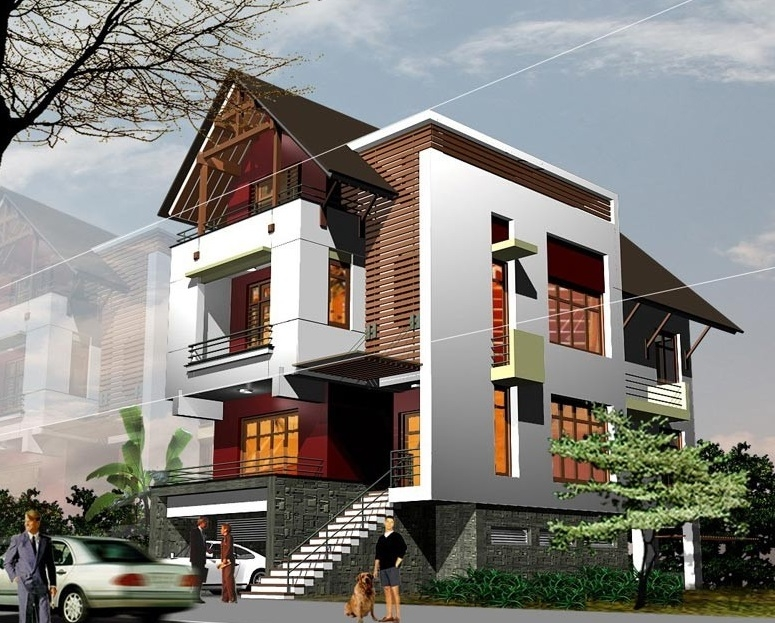 Mẫu thiết kế biệt thự 3 tầng hiện đại