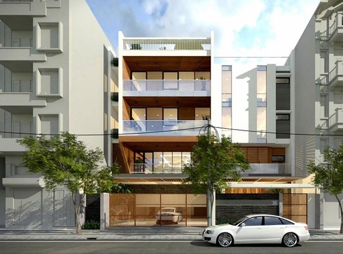 Thiết kế biệt thự phố 4 tầng