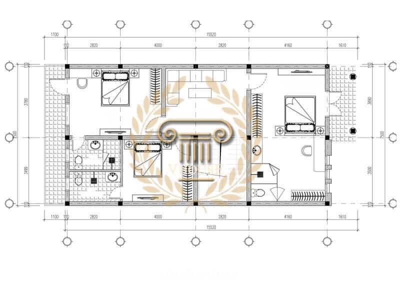 Mẫu thiết kế nhà phố 3 tầng đơn giản và sang trọng