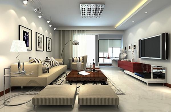 thiết kế phòng khách đón tài lộc vào nhà