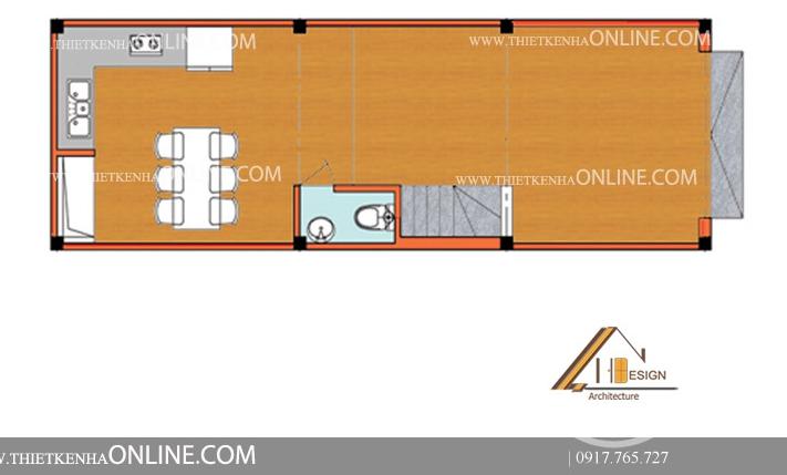 Thiết kế nhà 4 tầng 1 mặt tiền kích thước 4 x12m theo phong cách hiện đại