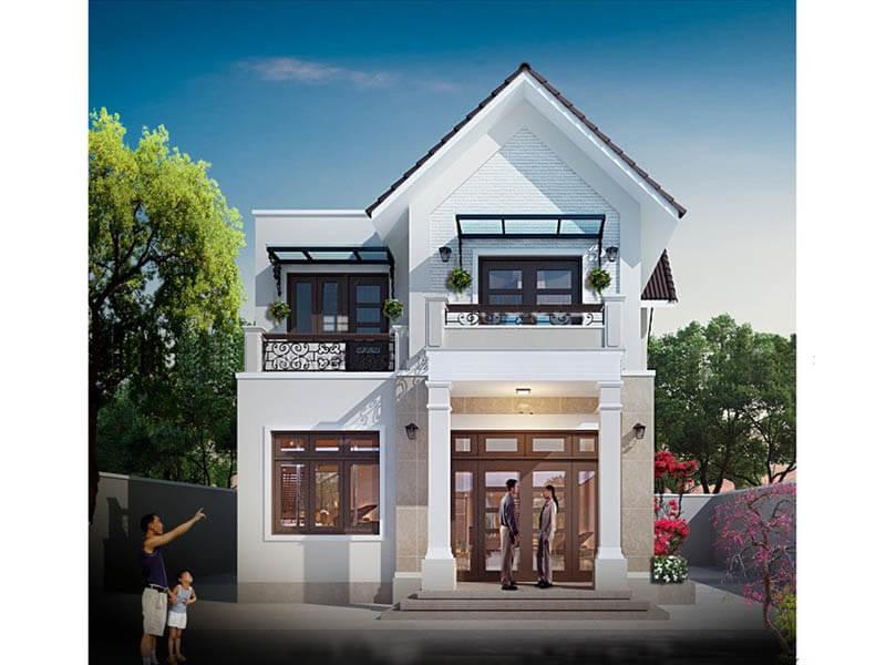 Thiết kế nhà phố đơn giản đẹp mắt  L16025