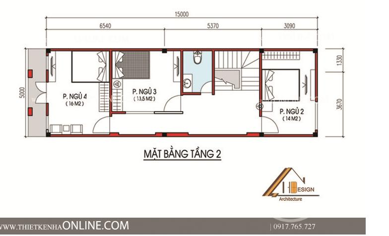 Thiết kế nhà phố mái thái kiểu pháp 3 tầng kích thước 5 x 15m NP16003Thiết kế nhà phố mái thái kiểu pháp 3 tầng kích thước 5 x 15m NP16003
