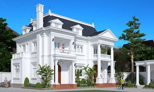 12 mẫu thiết kế biệt thự cổ điển 2 tầng đẹp hút mắt - Ảnh 12