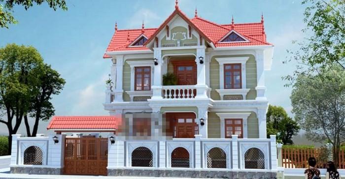 12 mẫu thiết kế biệt thự cổ điển 2 tầng đẹp hút mắt - Ảnh 4