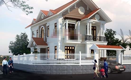 12 mẫu thiết kế biệt thự cổ điển 2 tầng đẹp hút mắt - Ảnh 6