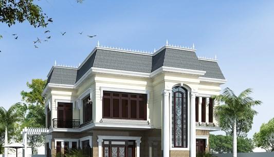 12 mẫu thiết kế biệt thự cổ điển 2 tầng đẹp hút mắt - Ảnh 10