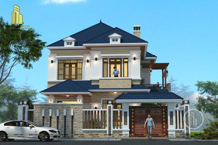 Các mẫu thiết kế biệt thự 2 tầng đẹp sang trọng