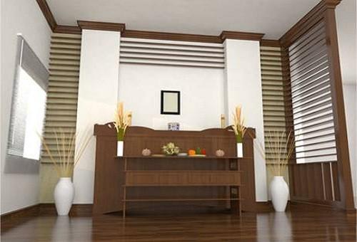 bàn thờ trong phòng ngủ