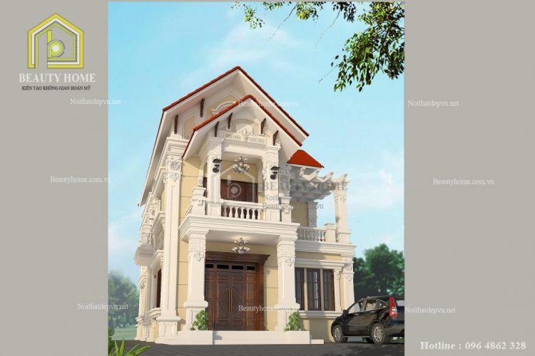 thiết kế biệt thự ở Hưng Yên cuốn hút