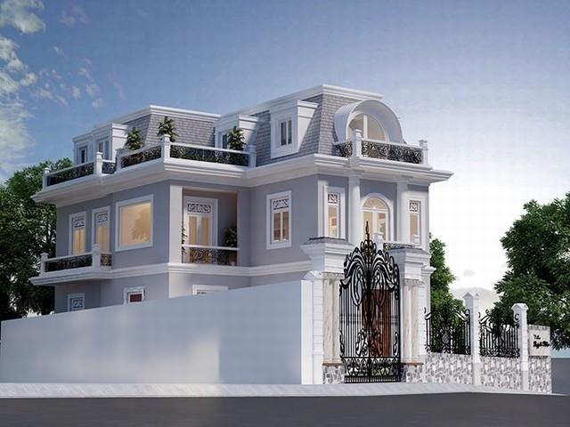 Thiết kế biệt thự cổ điển 3 tầng