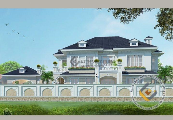biệt thự ở Thái Nguyên với thiết kế vô cùng hút mắt