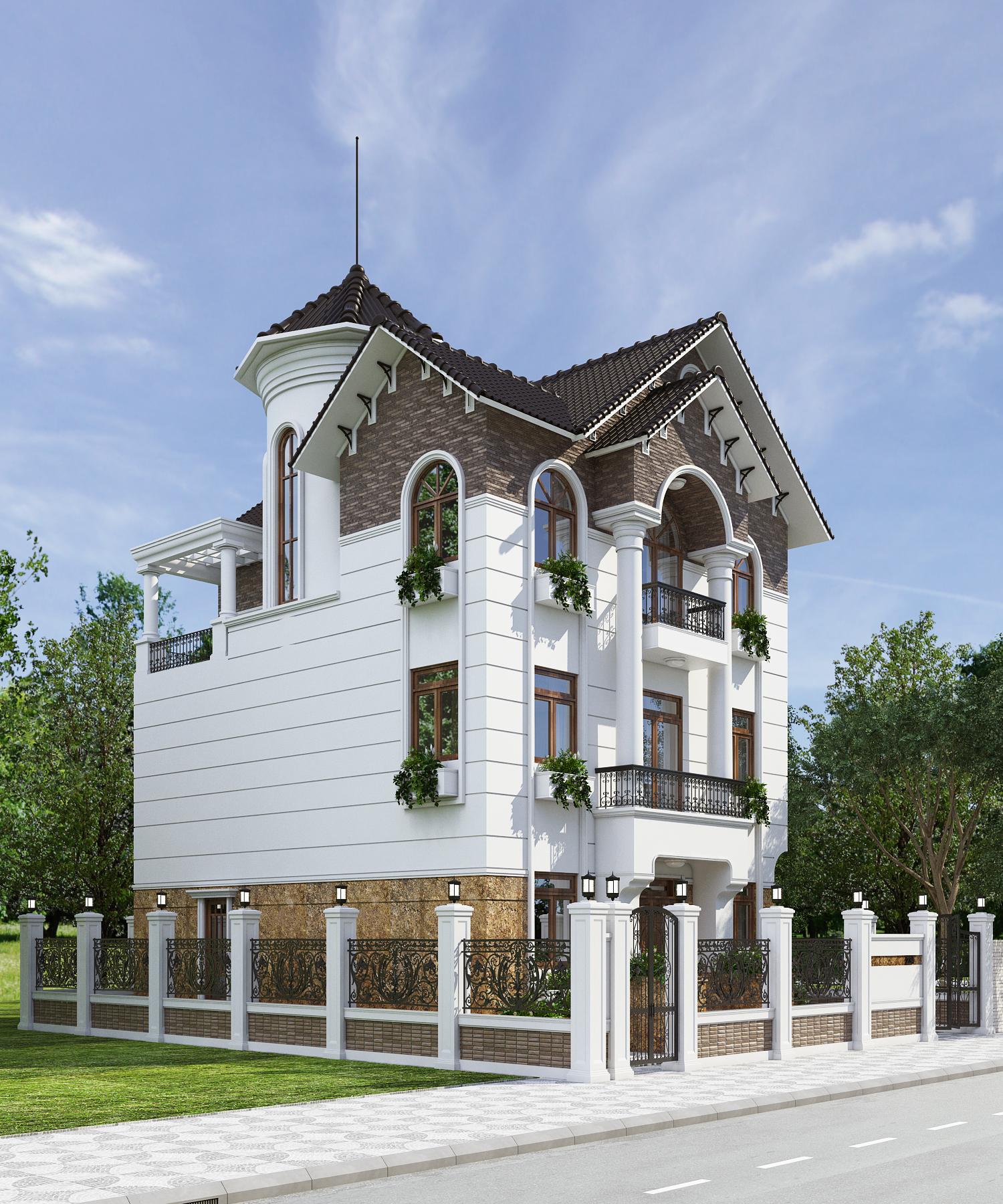 thiết kế biệt thự ở Bình Thuận đẹp quý phái