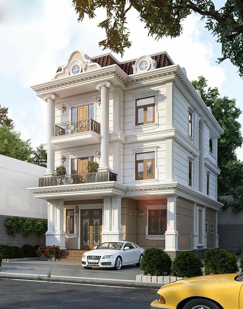 thiết kế biệt thự ở Bình Thuận đẹp diễm lệ