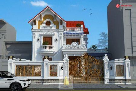 Hình ảnh nhà 2 tầng mái thái đẹp được nhiều người ngưỡng mộ tại tỉnh Hải Dương