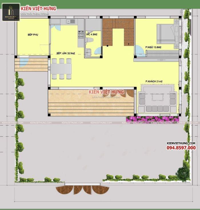Bản vẽ thiết kế của biệt thự được tạo ra từ các kiến trúc sư tài năng của Kiến Việt Hưng