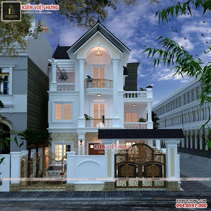 Chi tiết của biệt thự tân cổ điển đẹp này được lấy ý tưởng từ nét kiến trúc của hoàng gia nước Pháp