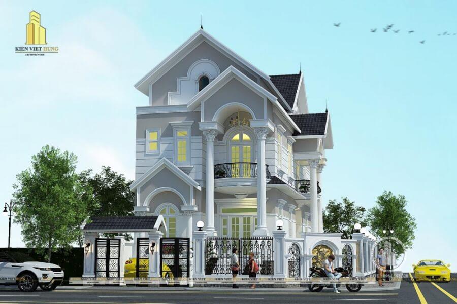 thiết kế biệt thự ở Móng Cái tân cổ điển