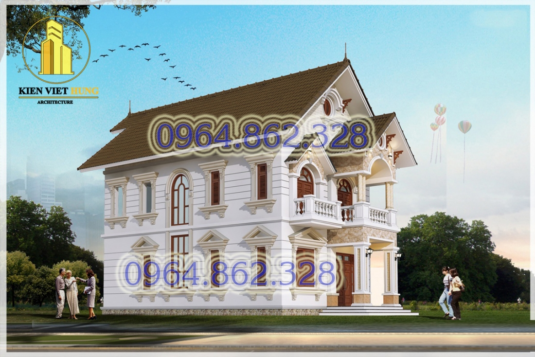 thiết kế biệt thự ở Hà Nội đẹp sang trọng