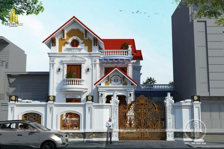 Thiết kế biệt thự ở Hà Tĩnh mang đậm phong cách tân cổ điển