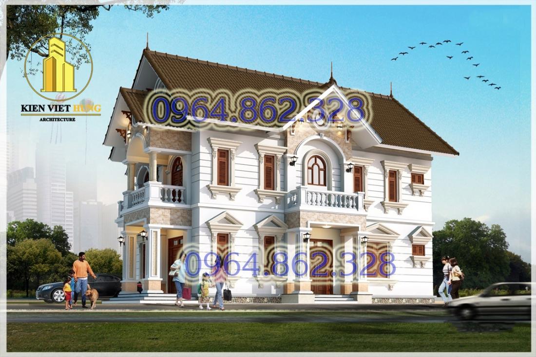 thiết kế biệt thự ở hưng yên phong cách tân cổ điển