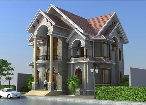 mẫu thiết kế biệt thự cổ điển