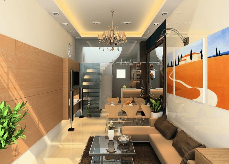 Thiết kế nhà phố 3 tầng theo phong cách hiện đại