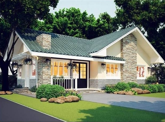 thiết kế biệt thự nhà vườn kiểu Mỹ