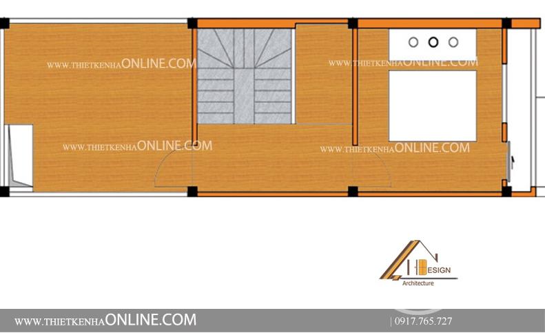 Thiết kế nhà 4 tầng 1 mặt phố kích thước 4 x12m theo phong cách hiện đại