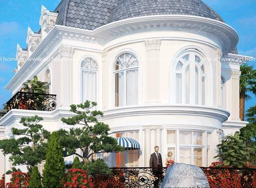 12 mẫu thiết kế biệt thự cổ điển 2 tầng đẹp hút mắt - Ảnh 11