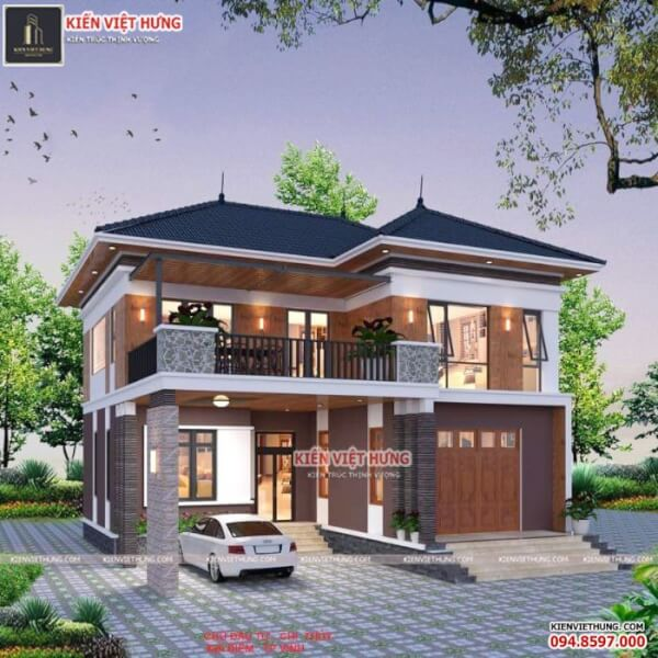 Các mẫu thiết kế biệt thự 2 tầng đẹp