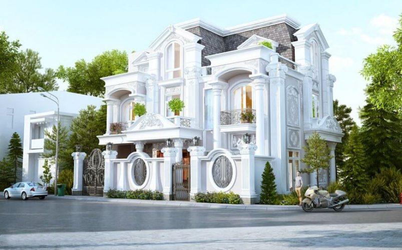thiết kế biệt thự ở Phú Yên phong cách tân cổ điển cuốn hút
