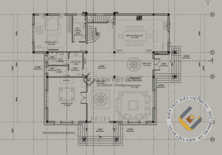 thiết kế biệt thự ở Hải Phòng đẹp lộng lẫy
