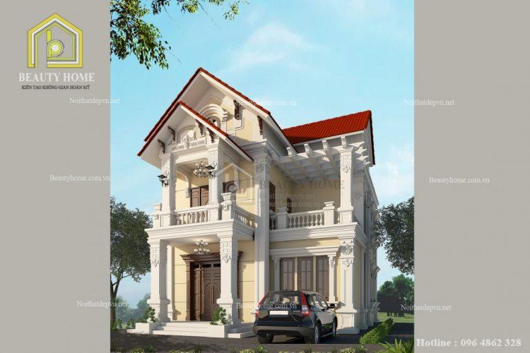 thiết kế biệt thự ở Hưng Yên đẹp lộng lẫy và sang trọng