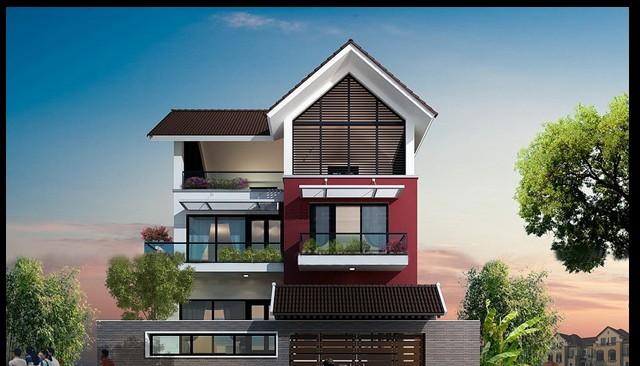 Mẫu biệt thự 3 tầng hiện đại tuyệt đẹp làm say mê người yêu kiến trúc