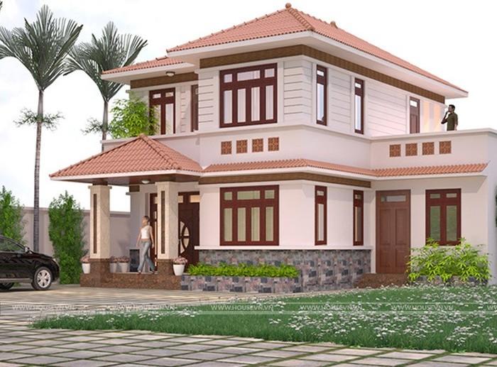 thiết kế biệt thự ở Điện Biên phong cách sân vườn