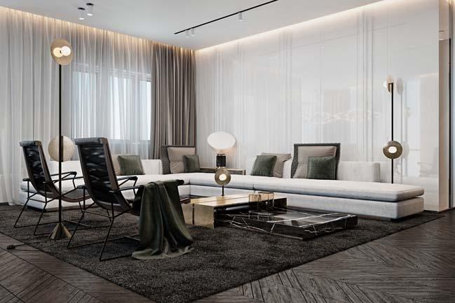 Mẫu phòng khách hiện đại 2017
