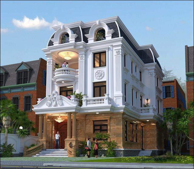 mẫu biệt thự 3 tầng đẹp nguy nga và tráng lệ