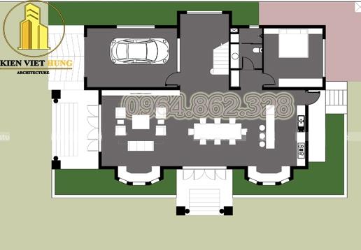 Thiết kế biệt thự ở Phú Thọ đẹp lộng lẫy