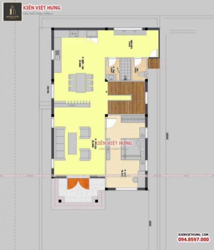 Hình ảnh bản vẽ chi tiết của mẫu biệt thự mini tại Hà Tĩnh