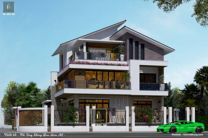 thiết kế biệt thự ở Vĩnh Phúc siêu đẹp