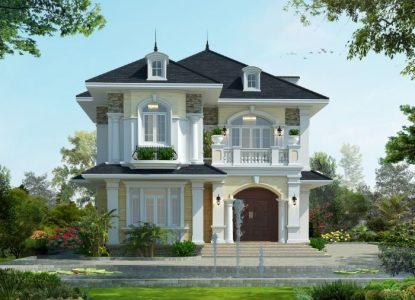 Hình ảnh nhà 2 tầng đẹp của gia đình anh Đô ở Phú Thọ
