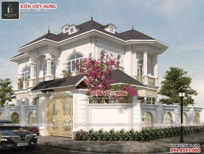 Ngôi nhà được thiết kế theo kiến trúc nhà Pháp sang trọng