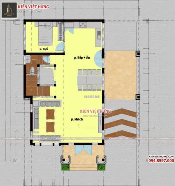 thiết kế biệt thự ở Yên Bái 3 tầng siêu đẹp