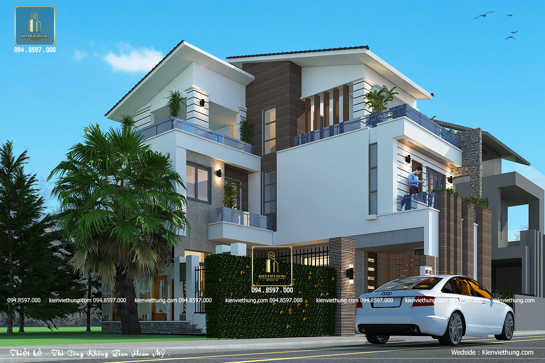 Thiết kế biệt thự 3 tầng rất trẻ trung và năng động