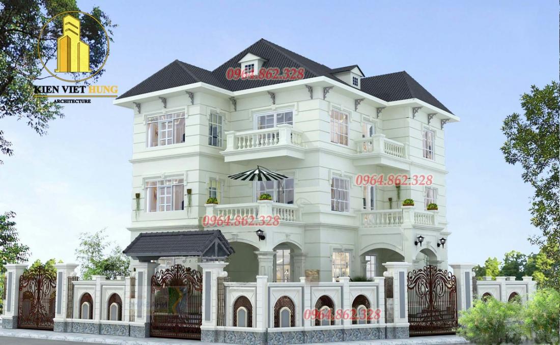 thiết kế biệt thự ở Hà Tĩnh đẹp lộng lẫy