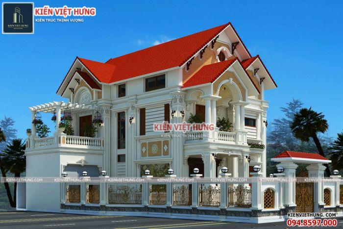 thiết kế biệt thự ở Cao Bằng đẹp hút mắt