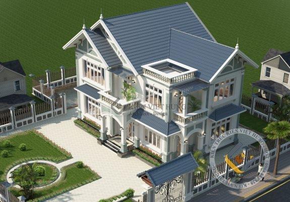 thiết kế biệt thự ở Ninh Bình 2 tầng đẹp