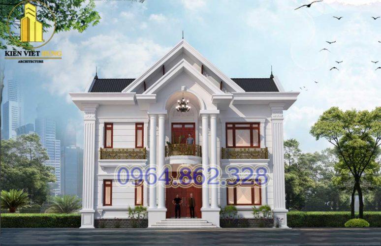 thiết kế biệt thự ở Phú Thọ 2 tầng siêu đẹp